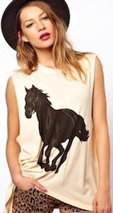 Black Horse Sleeveless T-Shirt