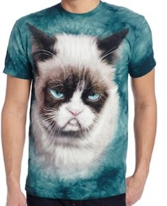 Grumpy Cat Mens T- Shirt