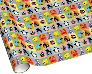 Cartoon Animal Wrapping Paper