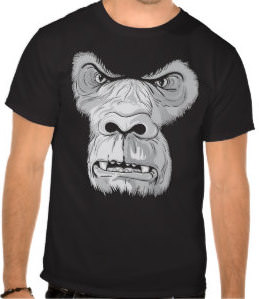 Mad Looking Gorilla Face T-Shirt