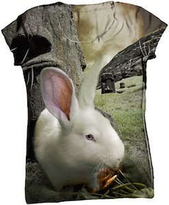 Rabbit easter island t-shirt