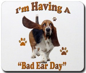 Bad ear day doggy mousepad