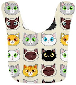Cat Face Expressions Bib