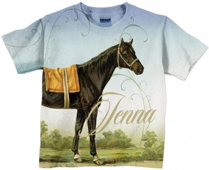 Childs Personalized Horse T-shirt