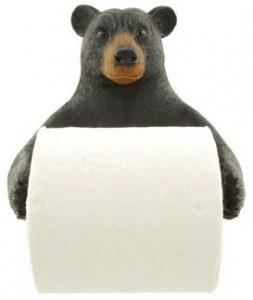 Black Bear Wall Toilet Paper Holder