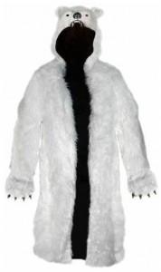 Polar Bear Long Hooded Jacket