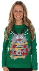 Tipsy Cat Ugly Sweater