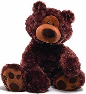 Gund 18 Inch Brown Philibin Plush Teddy Bear