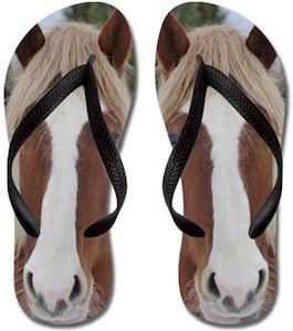 Horse Head Flip Flops