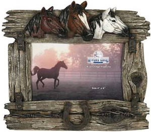 3 Horses Picture Frame