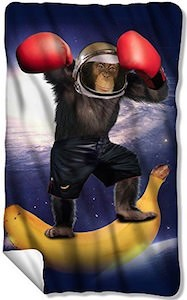 Space Monkey fleece Blanket