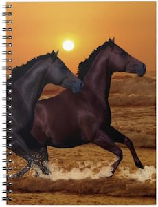 Horses In The Sunset Spiral Notebook