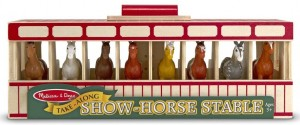 Show Horses And Stable Play Set