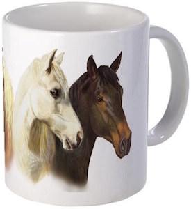 4 Horses Coffee Mug