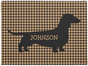 Personalized Dachshund Doormat