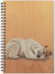 Polar Bear And His Teddy Bear Notebook