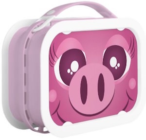 Pink Pig Face Lunch Box