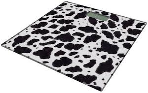 Cow Print Bathroom Scale