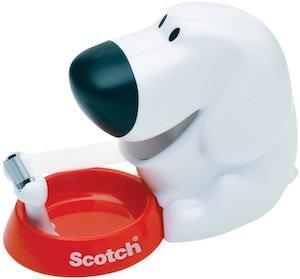 White Dog Tape Dispenser